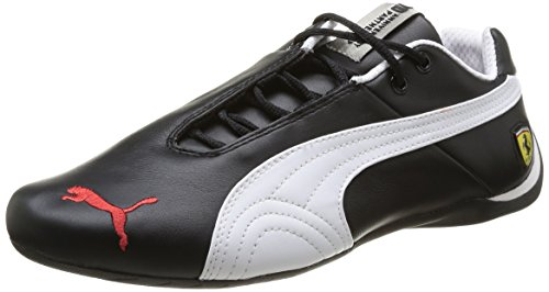 Puma-Mens-Black-White-Leather-Running-Shoes-30547002BlackWhite-8UKIndia-42EU