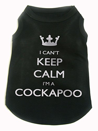 I Can't Keep Calm I'm A Cockapoo, dog, by Bertie, (small breed size small) Free worldwide shipping