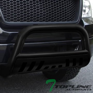 Topline Autopart Matte Black HD Heavyduty Bull Bar Brush Push Front Bumper Grill Grille Guard Protector Tubular Tube 04-08 Ford F150 / 07-14 Lincoln Navigator (Bull Bar 05 F150 compare prices)