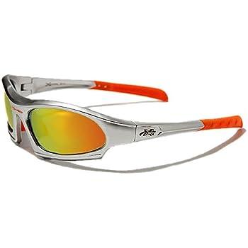 X-Loop Lunettes de Soleil - Sport - Cyclisme - Ski - Conduite - Moto - Plage / Mod. 5101 Gris Orange Spectrum Iridium / Taille Unique Adulte / Protection 100% UV400