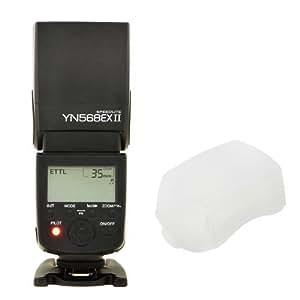 Yongnuo YN568EX II flash/speedlite maître sans fil et synchrone TTL sabot/griffe GN58 pour caméras de Canon 7D, 60D, 600D +Cadeau Sabot