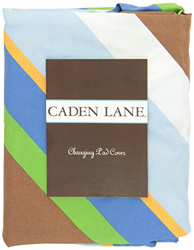 Caden Lane Boutique Collection Diagonal Stripe Changing Pad Cover, Blue - 1