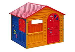 Childrens Outdoor/Indoor Garden Summer Happy House Fun Playhouse Yellow Red Blue