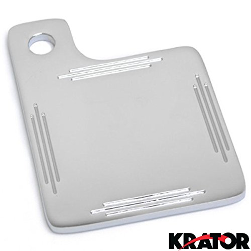 Krator® Chrome Universal Custom Motorcycle Inspection Tag Sticker Plate License Plate Tag Sticker Bracket Mount For Cruisers Metric Military Vehicles Harley Davidson Motorcycles Custom Application