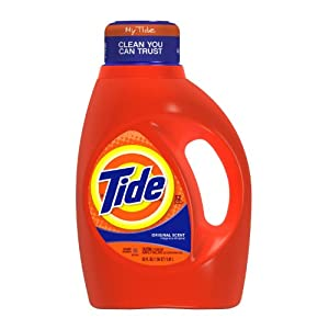 Tide Liquid Laundry Detergent, Original Scent, 50 Ounce