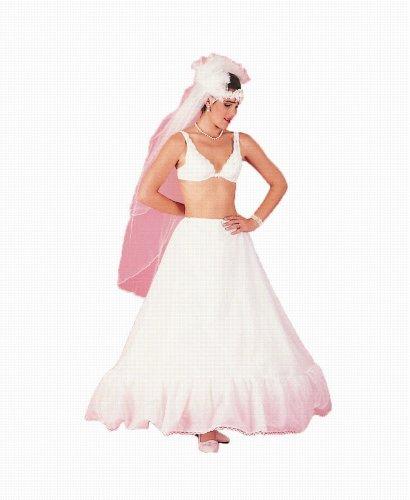 New Full 11'' Ruffle Drawstring Bridal Petticoat Wedding Gown Slip (112DS)