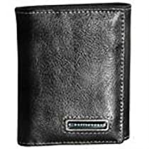 Chevy Camaro Black Leather Tri Fold Wallet By Motorhead Products