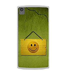 Smiley on a Placard 2D Hard Polycarbonate Designer Back Case Cover for OnePlus X :: One Plus X :: One+X