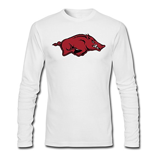 YAK Men's Arkansas Razorbacks Tshirts White 100% Cotton (Arkansas Basketball Tickets compare prices)