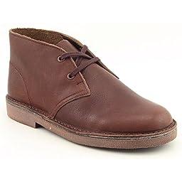 Clarks Kids Boy\'s Desert Boot (Toddler/Little Kid) Chestnut Leather Boot 12 Little Kid M