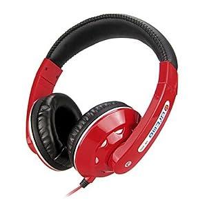 Stereo Musik 3.5mm On-Ear-Kopfhörer DM-3000 (Schwarz, Rot, Weiß, Blau) ( Farbe : Weiß )