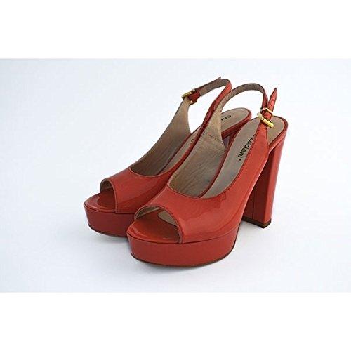 Scarpe sandali, decolte' Chiara Luciani con chiusura con cinturino rosso, taglia: 38