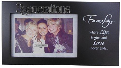 Three Generations Picture Frame 4x6 Black