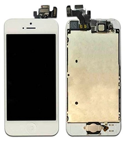 New Completed White Iphone 5 Lcd Display Touch Screen Digitizer Frane Assembly With Button, Cameral, Flex Cable