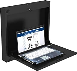 Laptop Wall Mount Computer Station (Black) - by VersaTables