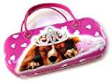 Girls Pink Pretty Dog Princess Spectacles Glasses Case