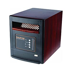 "Eden Pure Infrared Heater Infrared 5000 Btu 1000 Sq. Ft. 110 V/12.6 A Wood Grain 16 "" H X 13 "" W X 1"