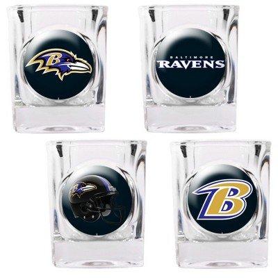 NFL men,unisex-adult,women Four Piece Square Shot Glass Set (Individual Logos)