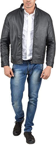 Stepp Up Men's PU leather Jackets - ( 785, Black, L)