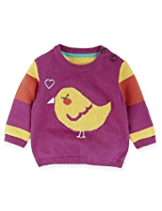 Pure Cotton Bird Print Jumper