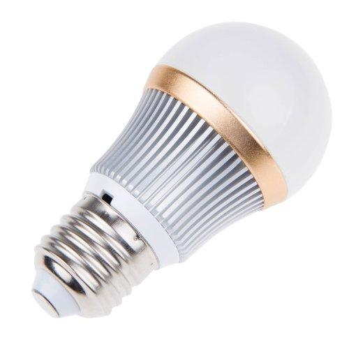 Lemonbest® Led Globe Bulb E27 Base 3 Watts Round Led Downlight Flood Lamp Lighting Bulb Pure Cool White