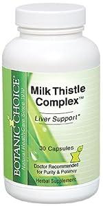 Botanic Choice Milk Thistle Complex Capsules, 30 Count (Pack of 2)