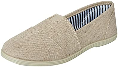 Soda Women Object Round Toe Flats Shoes,5.5 B(M) US,Beige L