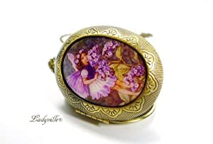Bigs Picture Medallion at a chain - Purifies butterflies [Jewelry]