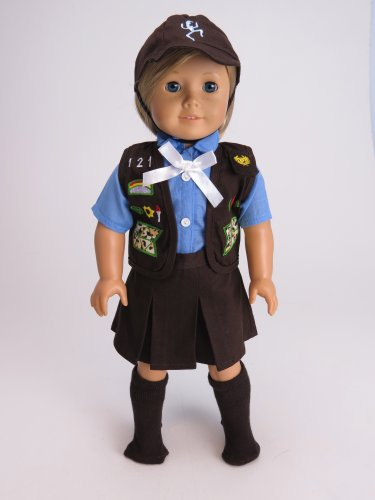 "18"" Girl Scouts Brownie Outfit for American Girl Dolls. - 1"