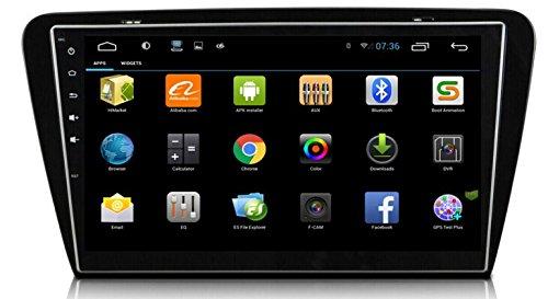 LIKECAR-102-Zoll-16GHZ-16GB-1024600-Quad-Core-Android-44-AUTO-GPS-Navigation-DVD-Stereo-Autoradio-fr-VW-Volkswagen-Skoda-Octavia-2014-mit-HD-Touchscreen-Lenkradsteuerung-Navigation-1080P-Bluetooth-USB