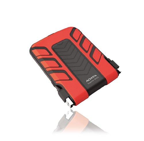ADATA Waterproof/Shockproof 500GB USB 2.0 External Hard Drive - ASH93-500GU-CRD (Red)