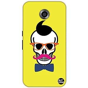 Designer Google Nexus 6 Case Cover Nutcase-Hipster Skull
