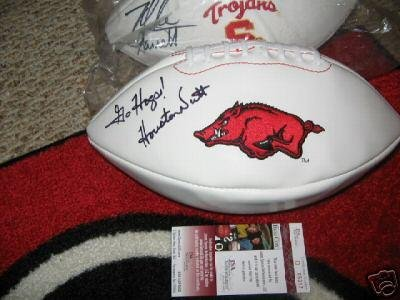 Houston Nutt Arkansas Jsa/coa Signed Football - Autographed College Footballs