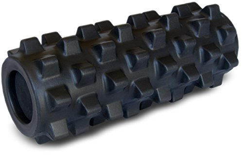 ランブルローラー/Rumble Roller(スモールサイズ/ハードタイプ/ブラック)?トリガーポイント&筋筋膜リリース/マッサージ&ストレッチローラー