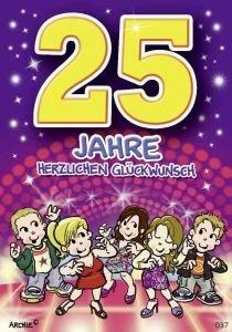 Lustige geburtstagskarte zum 25 k che haushalt - Geburtstagskarte 25 geburtstag ...