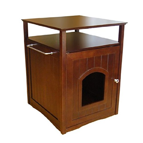 Pet Washroom Litter Box House Bed Nightstand Table Hidden