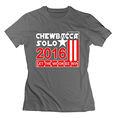 Review Of M07H Women's T-shirt Chewbacca Solo 2016 Let The WoooKiee Win DeepHeather Size XL