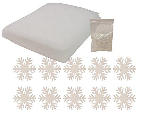 brauns-heitmann-81408-winter-deko-set-schneewatte-schneeflocken-und-kunstschnee