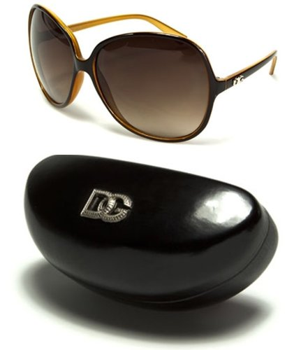 DG26 Style 1 DG Eyewear Vintage Oversized Women's Sunglasses W/ Black XL Case