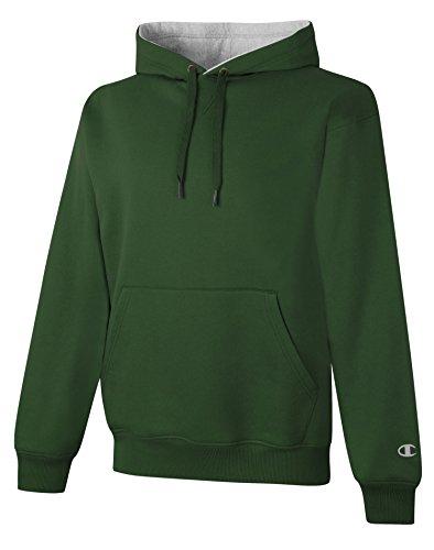 Champion S1781 9.7 oz., 90/10 Cotton Max Pullover Hood - SP FOR/ATH HTR - L (Champion 90 10 Sweatshirt compare prices)