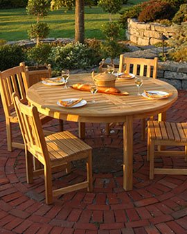 Buy Low Price Gardener's Supply Company 5-foot Round Dining Table (B00319U7G4)