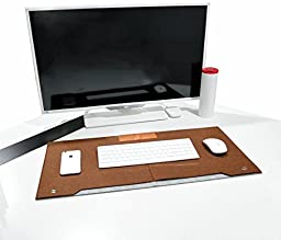 """OLizeeâ""""¢ Leather And Felt Desk Pad 26\"""