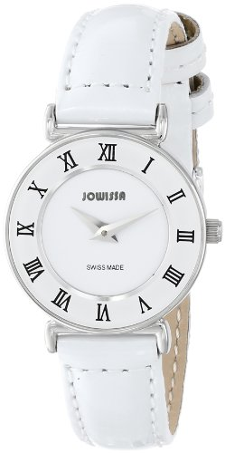 Jowissa Roma Women's Quartz Watch with White Dial Analogue Display and White Leather Strap J2.001.S