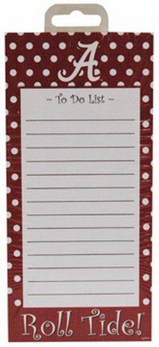 NCAA Alabama Crimson Tide Stationary Magnetic Polka Dot Design Note Pad