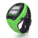Pyle Extreme GPS Sports Watch Workout Trainer - ANT+ Heart Rate Monitor Compatible - For Tracking Running, Biking, Hiking Outdoors - Export Data to Map my Run and Strava - Displays Pace, Speed and Distance (Green)