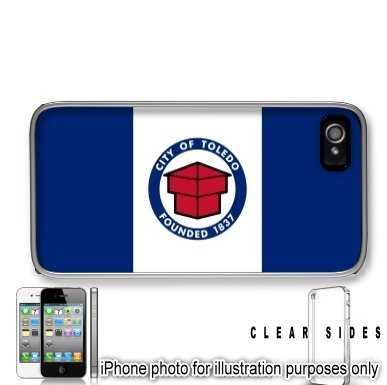 Toledo Ohio OH City State Flag Apple iPhone 4 4S Case Cover Skin Clear on Sides