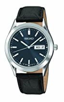 Men's watches special offers - Seiko Men's Black Leather Strap Watch #SGFA03 :  seiko mens watch