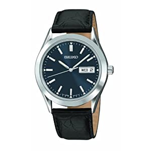 Click to buy Seiko Watches for Men: SGFA03 Black Leather Strap Watch from Amazon!