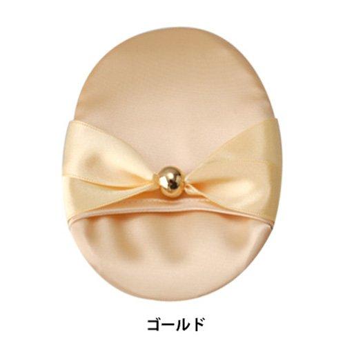 京都シルク化工 シルク洗顔パフ ゴールド