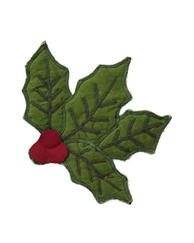 April Cornell Holly Potholder, Green